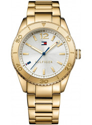 Tommy Hilfiger Women's Ritz Silver Dial Gold Tone Watch 1781268