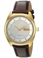 Seiko Men's Recraft Automatic Brown Leather Watch SNKN70