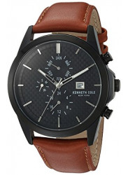 Kenneth Cole Men's New York Black Dial Brown Leather Watch 10030792