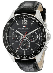 Tommy Hilfiger Men's Black Dial Tachymeter Watch 1791117