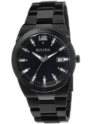 Bulova Men's Classic Black Carbon Fiber Black Dial Watch 98B234