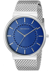Skagen Men's Ancher Blue Dial Mesh Bracelet Watch SKW6234