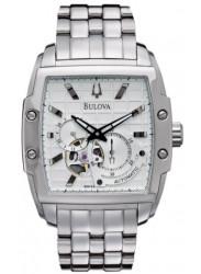 Bulova Men's Watch Automatic GMT Silver Tone Watch 96A122