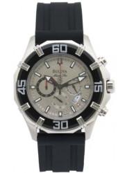 Bulova Men's Marine Star Chronograph Blue Dial Watch 96B152