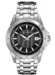 Bulova Men's Two Tone Dial Silver Tone Watch 96B169