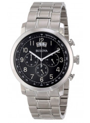 Bulova Men's Chronograph Black Dial 96B202