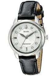 Bulova Women's Precisionist Brightwater Leather strap Watch 96P124