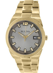 Bulova Men's Classic Gold Toned Silver Dial Watch 97B137
