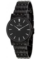 Bulova Men's Black Dial Black Watch 98A122