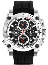 Bulova Men's Precisionist Black Dial Black Rubber Watch 98G172