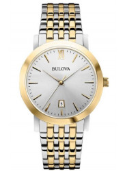 Bulova Men's Two Toned Silver Dial Watch 98B221