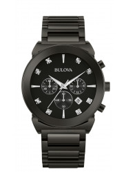 Bulova Men's Chronograph Diamond Stainless Steel Watch 98D123