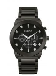 Bulova Men's Chronograph Diamond Stainless Steel Watch 98D123