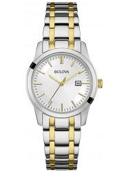 Bulova Women's Silver Dial Two Tone Watch 98M122
