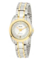 Bulova Women's Precisionist Longwood Quartz Steel Bracelet Watch 98P129