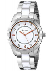 Bulova Women's 98P135 Silver Tone Diamond-Accented Dial Watch