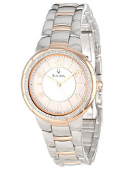 Bulova Women's Two Tone Diamond Watch 98R162