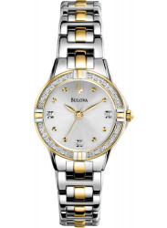 Bulova Women's Silver Dial Two Tone Watch 98R166