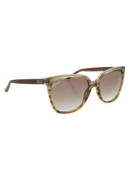 df43bc65ed3 Gucci Women s Cat Eye Full Rim Brown Azure Havana Sunglasses GG 3502 S R4E