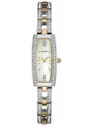 Bulova Women's Mother Of Pearl Dial Two Tone Watch 98L214