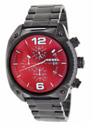 Diesel Men's Overflow Chronograph Black Ion-plated Watch DZ4316