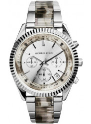 Michael Kors Women's Clarkson Chronograph Stainless Steel with Grey Acetate Watch MK5962