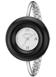 Marc by Marc Jacobs Women's White Dial Stainless Steel Bangle Watch MBM3397