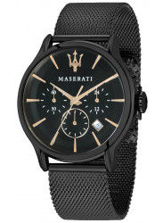 Maserati Men's Epoca Chronograph Black Mesh Bracelet Watch R8873618006