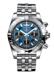 Breitling Men's Automatic GMT Chronograph Blue Dial Watch AB042011-C852-378A