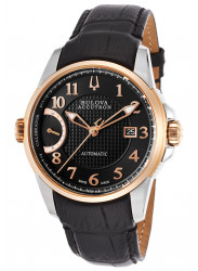 Bulova Men's Accutron Calibrator Leather Strap Automatic Men's Watch 65B148