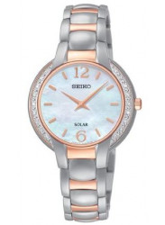 Seiko Women's Core Solar Mother of Pearl Dial Watch SUP256