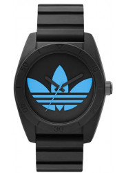 Adidas Men's Santiago Black Silicone Watch ADH2877