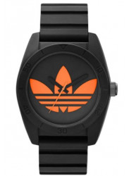 Adidas Men's Santiago Black Silicone Watch ADH2880