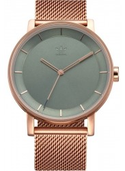 Adidas Men's District M1 Grey Dial Rose Gold Stainless Steel Watch Z04 3033-00