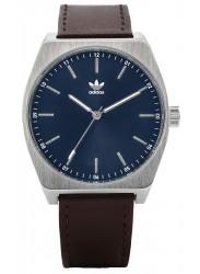 Adidas Men's Process L1 Blue Dial Brown Leather Watch Z05 2920-00