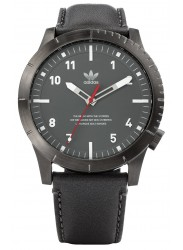 Adidas Men's Cypher LX1 Gunmetal Dial Charcoal Leather Watch Z06 2915-00