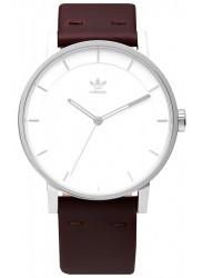 Adidas Men's District L1 White Dial Brown Leather Watch Z08 1113-00