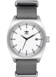 Adidas Men's Process W2 White Dial Grey Nylon Watch Z09 2957-00