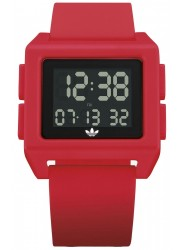 Adidas Men's Archive SP1 Digital Red Rubber Watch Z15 203-00