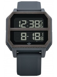 Adidas Men's Archive R2 Digital Gunmetal Rubber Watch Z16 632-00