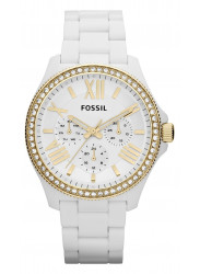 Fossil Women's Cecile White Rubber Watch AM4493