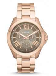 Fossil Women's Cecile Taupe Dial Rose Gold Tone Watch AM4533