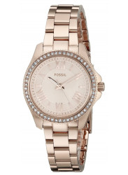 Fossil Women's Cecile Rose Gold Dial Watch AM4578