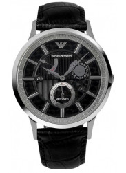 Emporio Armani Men's Meccanico Automatic Black Leather Watch AR4664