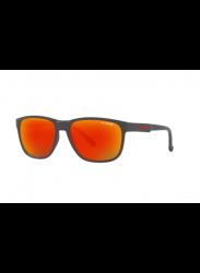 Arnette Men's Urca Dark Grey Red/Yellow Rectangle Sunglasses AN4257 26206Q-57