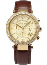 Michael Kors Women's Parker Chronograph Brown Leather Watch MK2249