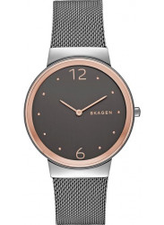 Skagen Women's Freja Smoke Grey Dial Two Tone Watch SKW2382