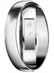 Calvin Klein Women's Double Bangle Silver Dial Watch K5022408