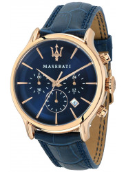 Maserati Men's Epoca Chronograph Blue Leather Watch R8871618007