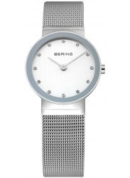 Bering Women's Classic White Dial Stainless Steel Mesh Watch 10126-000